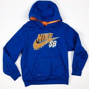 Boys Nike SB Hoodie M 10/12 Thermafit Blue Orange